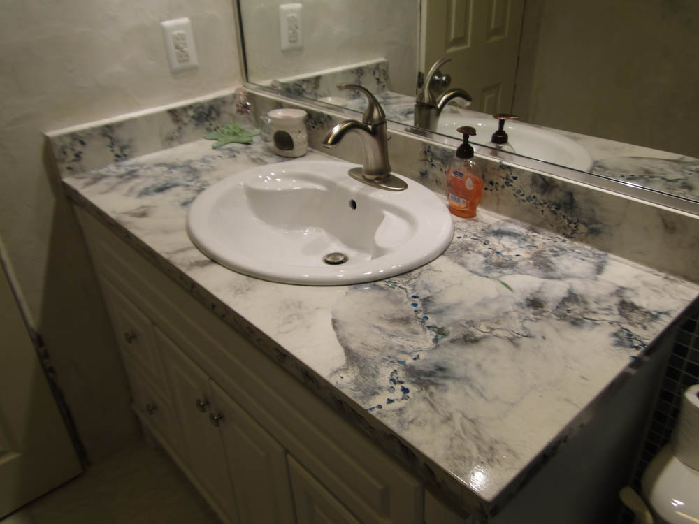 Concrete countertops stamped artistry houston texas for How durable are concrete countertops