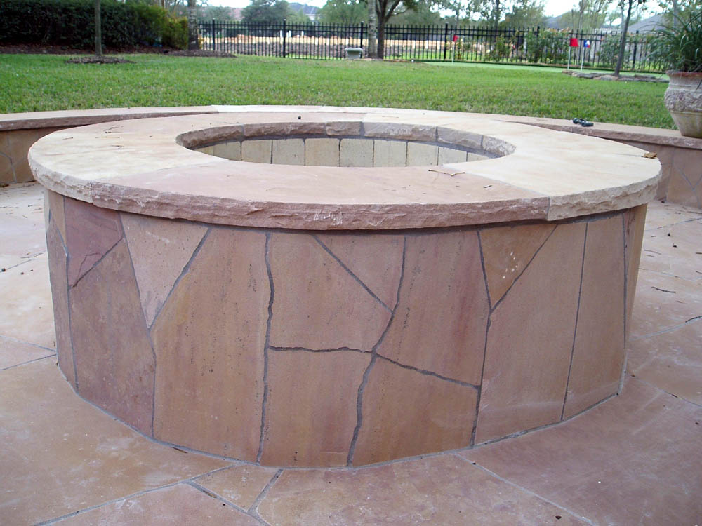 Outdoor Fire Pits | Stamped Artistry Houston Texas