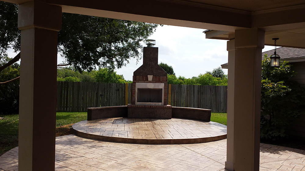 Outdoor Fire Pits Stamped Artistry Houston Texas