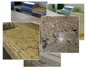 Concrete Countertops Stamped Artistry Houston Texas