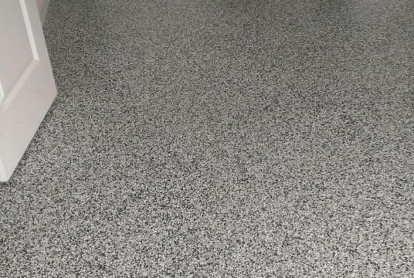 Metallic Epoxy Flakes Flooring Stamped Artistry Houston