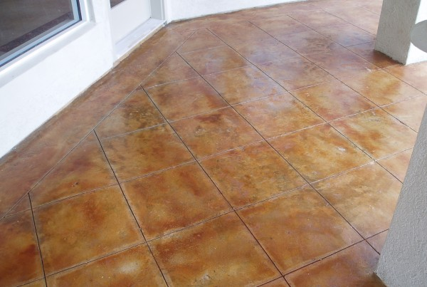 Stained Concrete Floors Stamped Artistry Houston Tx